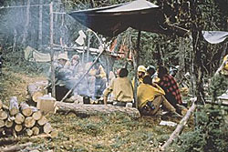 Second picture of a fire camp