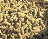 Wood pellets to burn in a stove